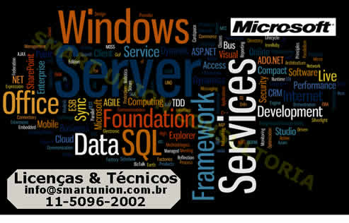 Engenheiros Especializados em ferramentas Microsoft - Exchange - Windows 2000 ou 2003 ou 2008  Server - ISA Server - Small Business Server - Instalação de Dominio com Active Directory - Compra de Licença Windows, Office. Smart Union - São Paulo - SP - Windows7  Seven Backup de Servidor Tela Azul